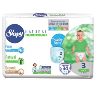 Трусики Sleepy Natural Midi 4-9кг 34шт