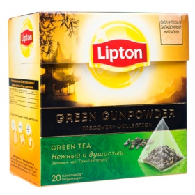 Чай Lipton / Липтон Green Gunpowder 20 пир